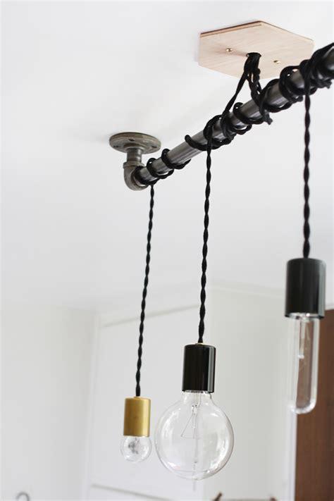 diy pipe pendant light hello lidy