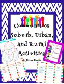 communities suburb urban  rural activities