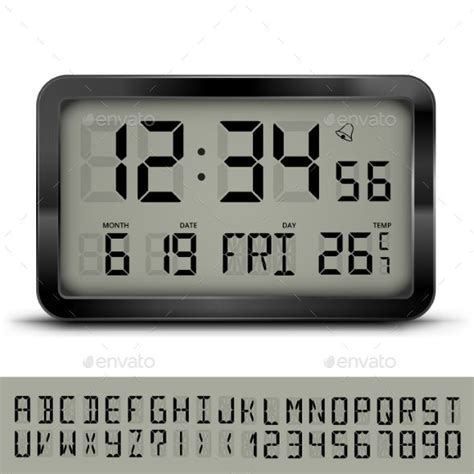 Font alarm clock with the normal characteristic belongs to the alarm clock font family. Digital Alarm Clock Font   Unique Alarm Clock