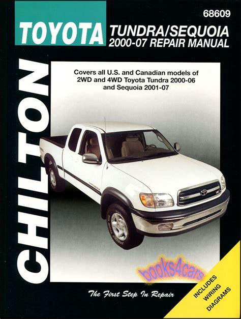 auto repair manual online 2006 toyota sequoia free book repair manuals toyota tundra sequoia shop manual service repair book chilton haynes 2000 2007 ebay