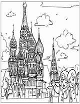 Coloring Para Places Pages Mundo Del Lugares St Colorear Printable Cathedral Dibujos Basil Russia Colouring Basils Imprimir Dibujar Visit Russian sketch template