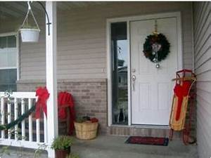 Holiday Porch Decorating Winter
