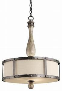Kichler dag evan bulb indoor pendant with drum