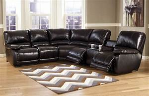 Capote 4 pc power reclining sectional ashley furniture for Sectional sofas with 4 recliners