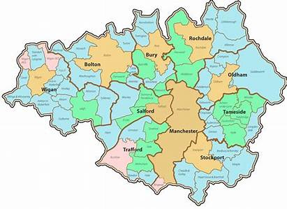 Manchester Map Greater Oldham Rochdale Salford Scrap