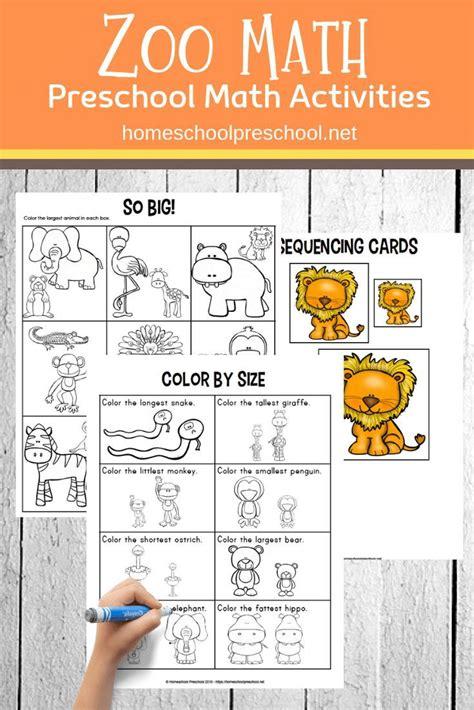 printable zoo math worksheets  preschoolers