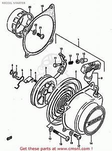 suzuki lt50 1988 j recoil starter buy original recoil With diagram of suzuki atv parts 1985 lt250ef recoil starter diagram