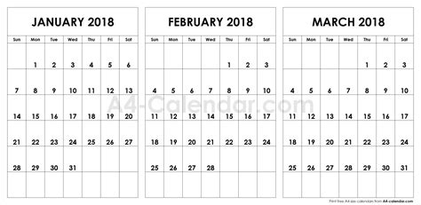 january february march  june calendar printable