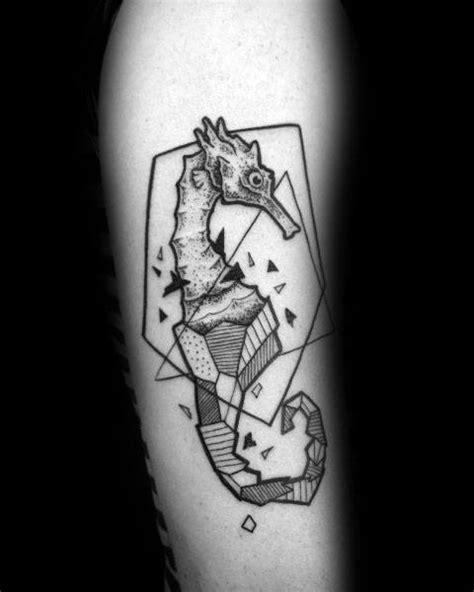 60 Seahorse Tattoos For Men - Nautical Design Ideas