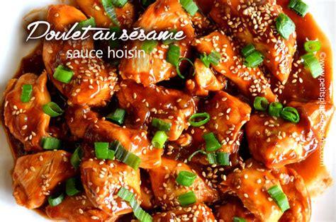 recette de cuisine asiatique poulet au sésame sauce hoisin petits plats entre amis