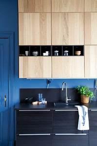 Ikea Facade Cuisine : mod le de cuisine ikea metod avec des fa ades noires tingsryd et des fa ades en bois ~ Preciouscoupons.com Idées de Décoration