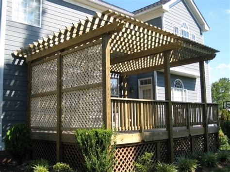 pictures of pergolas with lattice deck lattice here s a deck with lattice side pan