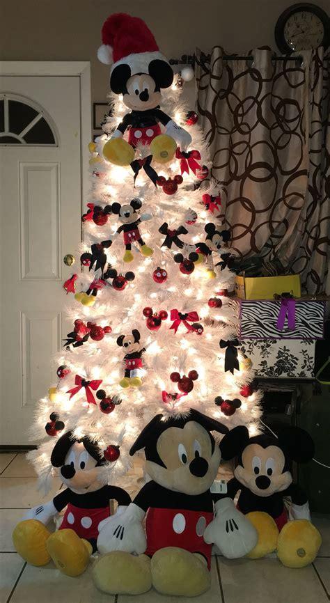 mickey mouse christmas tree diy craft weihnachten mit