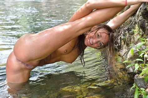 Hot College Girls Mary And Aubrey Go Swimming Naked In The