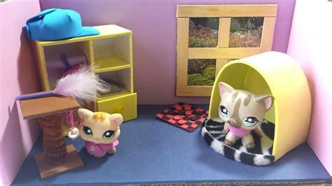 cute bedroom   lps cat doll house diy