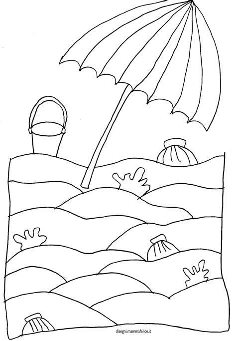 spiaggia disegni estate colorati disegno da colorare spiaggia e ombrellone disegni