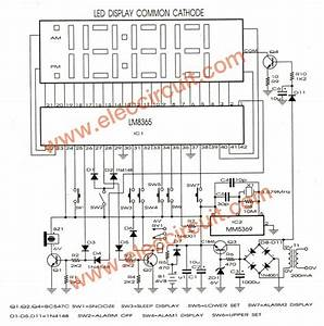 Wiring Diagram Of Electronic Clock