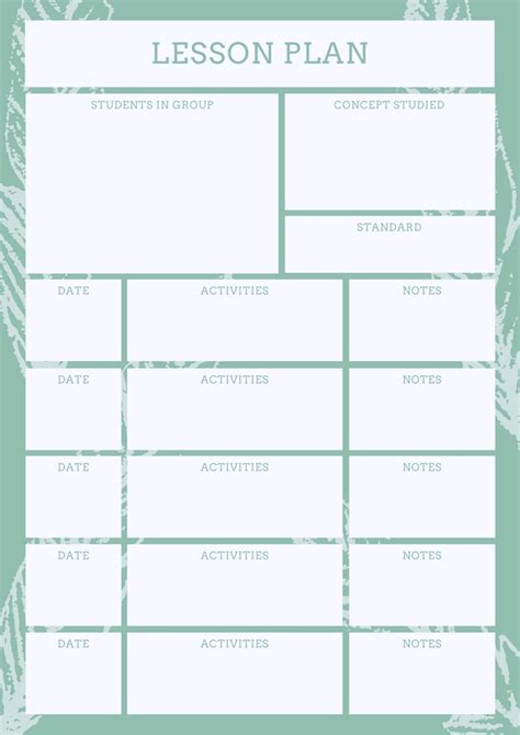 Design Lesson Plans by Free Lesson Plans Design A Custom Lesson Plan In Canva