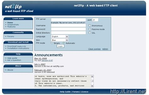 Ftp Resume Upload C by Net2ftp Web Ftp Client Undercover