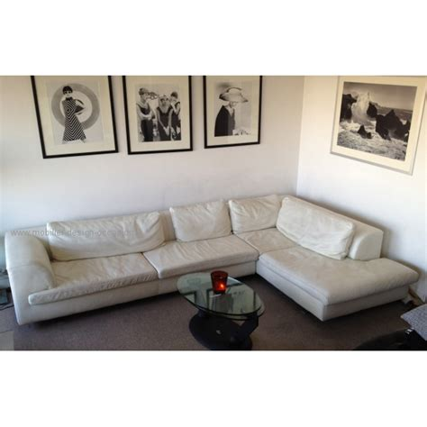 canapé d 39 angle cuir blanc roche bobois roche bobois