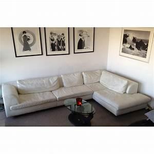 canape d39angle cuir blanc roche bobois roche bobois With tapis champ de fleurs avec canapé convertible style industriel