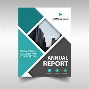 Abstract Annual Report Cover Vector