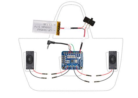 circuit diagram boombox beach bag  audio amp