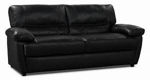 tess genuine leather sofa black the brick With genuine black leather sectional sofa