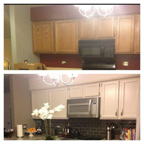 hide soffit  kitchen cabinets  adding crown molding