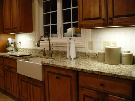 Granite Backsplash by Slate Backsplash Granite Countertop We Tried To Match