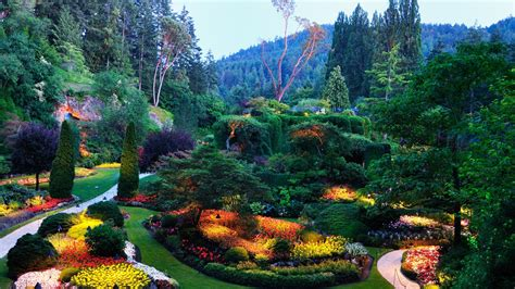 唯美花园意境壁纸_天堂一样的花园_风景壁纸_