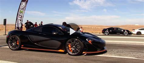 Epic Drag Race Bugatti Veyron Vs Mclaren P1 [video]