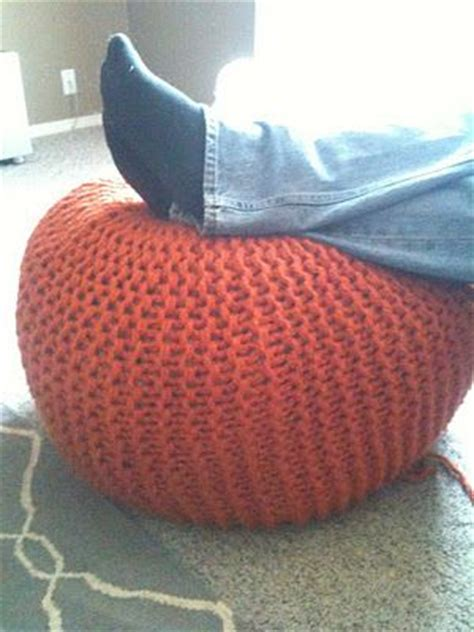 how to make a knitted pouf ottoman home ec flunkee great tutorial helps clarify pickles