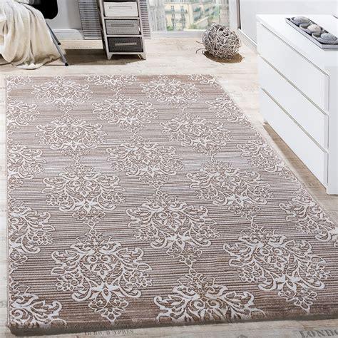 teppich wohnzimmer teppich wohnzimmer klassisch floral muster ornament abstrakt meliert beige creme wohn und