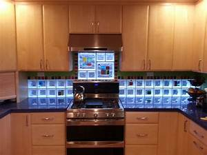 art glass tile block backsplash in california glass tile With kitchen cabinets lowes with glass art wall decor