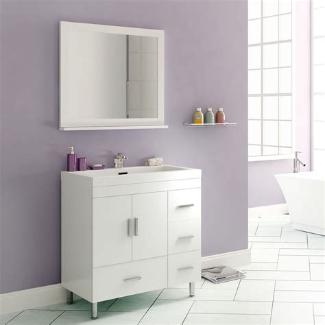 alya     single modern bathroom vanity white