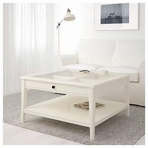 LIATORP Coffee table White/glass 93x93 cm IKEA