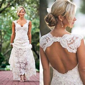 Lace Beach Wedding Dress - Oasis amor Fashion