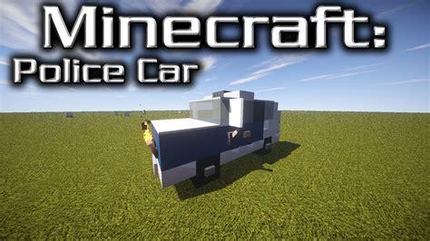 minecraft car design minecraft police car tutorial designed by yazur youtube