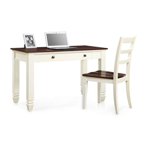 desk and chair whalen furniture white and cherry writing desk chair set