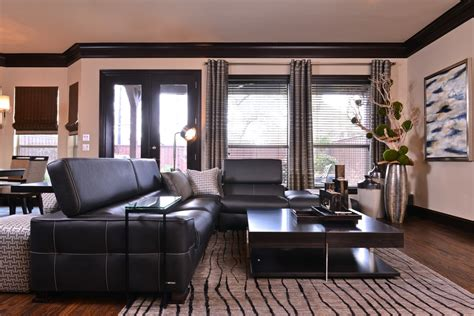 Dining Table Centerpiece Ideas Home by Grey Leather Sofa Living Room Contemporary With Area Rug
