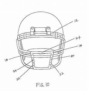 Inside Football Helmet Diagram