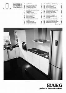 Aeg X66453md10 Cooker Hood User Manual