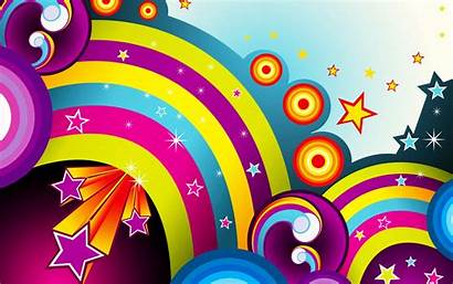 Rainbow Colorful Stars Colors Wallpapers Backgrounds Mobile