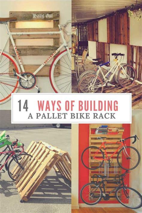 diy bike racks  ways  building   pallet bike