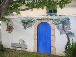 Mur Trompe L Oeil : mon jardin fleuri des peintures sur des murs en trompe l 39 oeil ~ Melissatoandfro.com Idées de Décoration