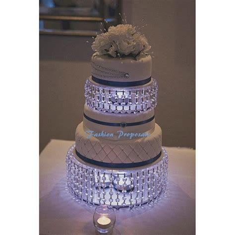 crystal wedding cake stand  cake dividers  crystals