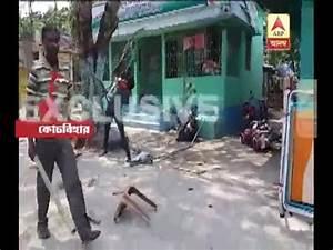 TMC-BJP clash at Dihata, attack on locket chatterjee's car ...