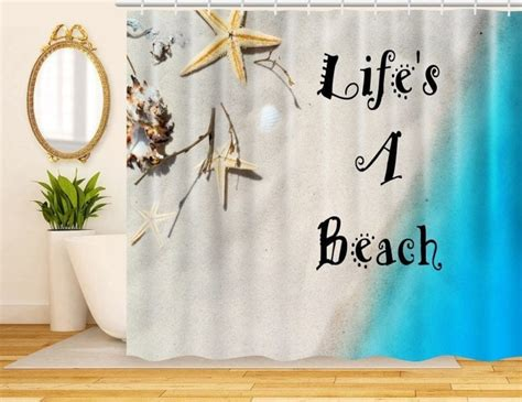 Nautical And Beach Themed Shower Curtains-beachfront Decor