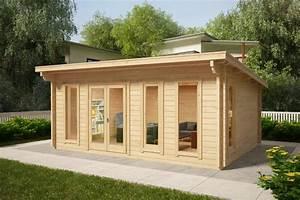 Blockhäuser Aus Polen : gartenhaus mit pultdach barbados 21m 44mm 6x4 hansagarten24 ~ Whattoseeinmadrid.com Haus und Dekorationen